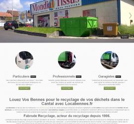 Site pour le recyclage des déchets et location de bennes dans le Cantal.